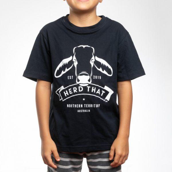 Kids TShirt - Navy - 1 colour logo 5