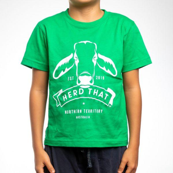 Kids TShirt - Neon Green - 1 colour logo 1