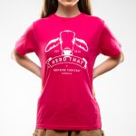 Kids Tshirt - Fushia - 1 colour logo