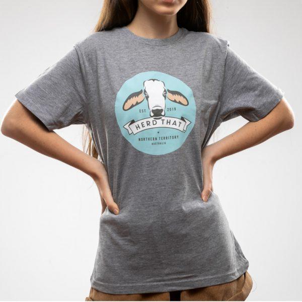 Kids Tshirt - Grey - 4 colour logo