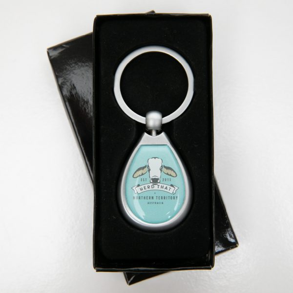 HerdThat Metal Keyring with logo