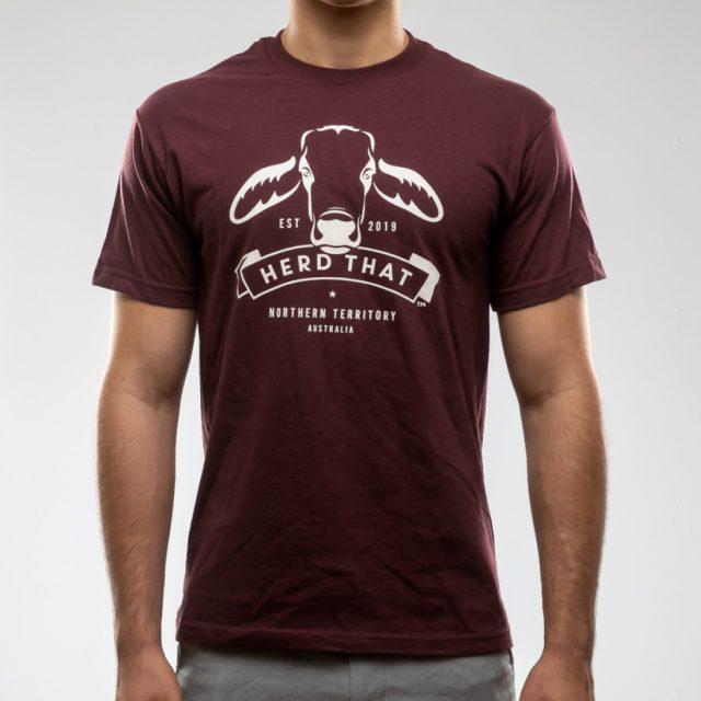 TShirt – Maroon – 1 colour logo
