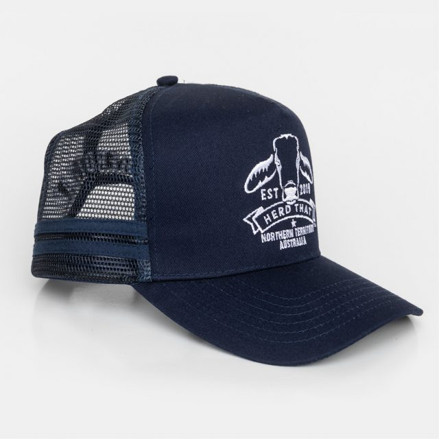 Trucker Cap – Embroidered Logo – Navy