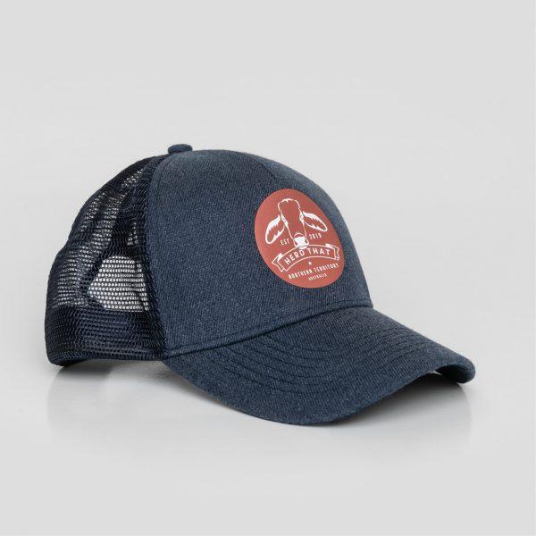 Trucker Cap - Round Logo - Denim