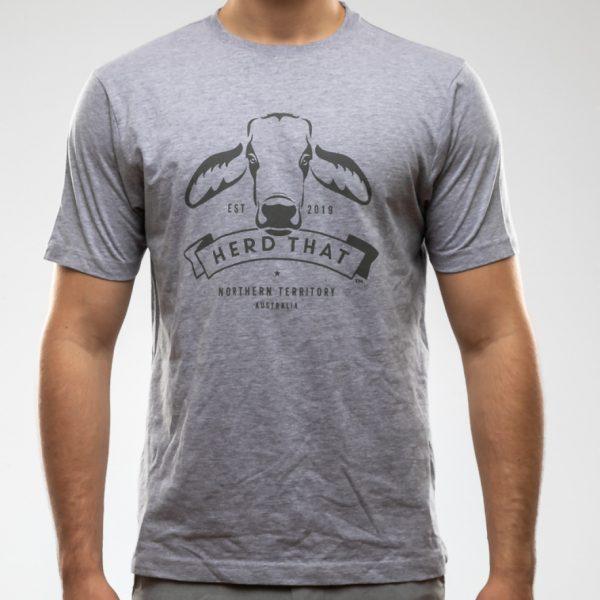 Tshirt - Light Grey - 1 Colour Logo